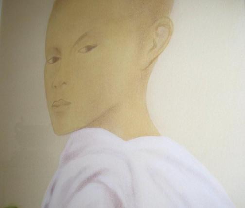 Chú tiểu Nguyên Huệ. Painting: Tống Mai