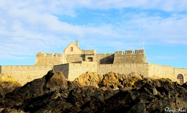 Le Petit Bé, fort Vauban à Saint-Malo. Photo: TốngMai